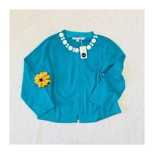 Boden Blue bijou cropped cardigan sweater 8R